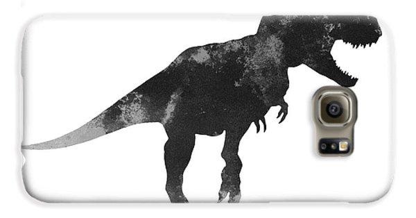 Tyrannosaurus Figurine Watercolor Painting Galaxy S6 Case