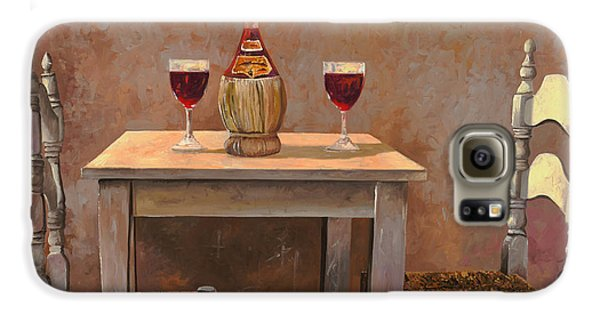 Food And Beverage Galaxy S6 Case - un fiasco di Chianti by Guido Borelli