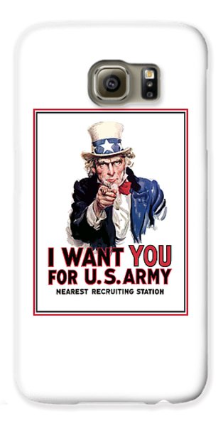 Uncle Sam -- I Want You Galaxy S6 Case
