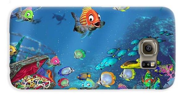 Seahorse Galaxy S6 Case - Underwater Fantasy by Doug Kreuger
