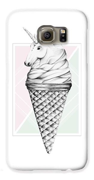 Unicorn Galaxy S6 Case - Unicone by Barlena