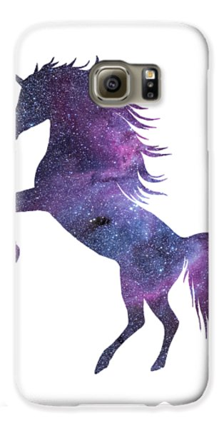 Unicorn In Space-transparent Background Galaxy S6 Case by Jacob Kuch
