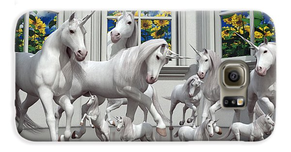 Unicorns Galaxy S6 Case by Betsy Knapp