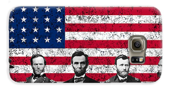 Union Heroes And The American Flag Galaxy S6 Case by War Is Hell Store