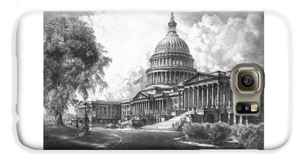 United States Capitol Building Galaxy S6 Case by War Is Hell Store