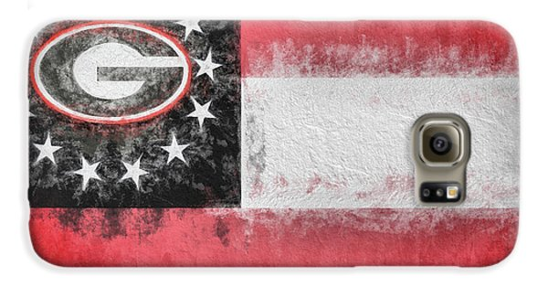 Galaxy S6 Case featuring the digital art University Of Georgia State Flag by JC Findley