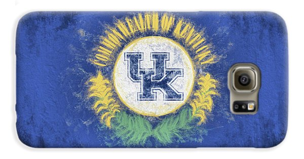 Galaxy S6 Case featuring the digital art University Of Kentucky State Flag by JC Findley