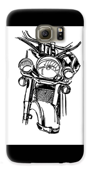Urban Drawing Motorcycle Galaxy S6 Case by Chad Glass