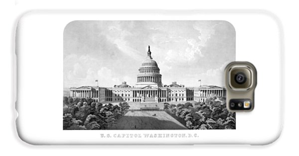 Us Capitol Building - Washington Dc Galaxy S6 Case by War Is Hell Store