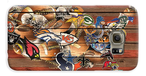 Usa Nfl Map Collage 6 Galaxy S6 Case