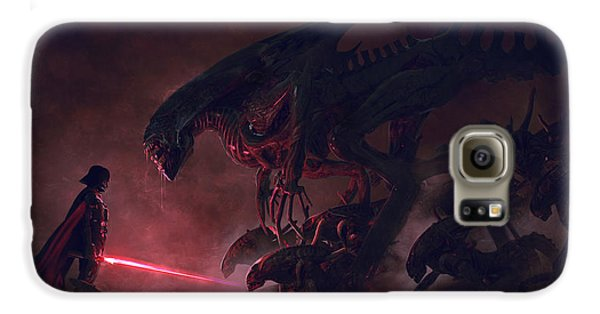 Outer Space Galaxy S6 Case - Vader Vs Aliens 4 by Exar Kun