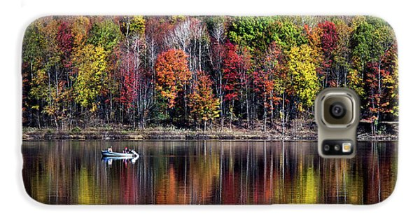 Vanishing Autumn Reflection Landscape Galaxy S6 Case by Christina Rollo