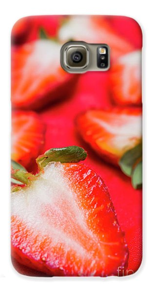 Strawberry Galaxy S6 Case - Various Sliced Strawberries Close Up by Jorgo Photography - Wall Art Gallery