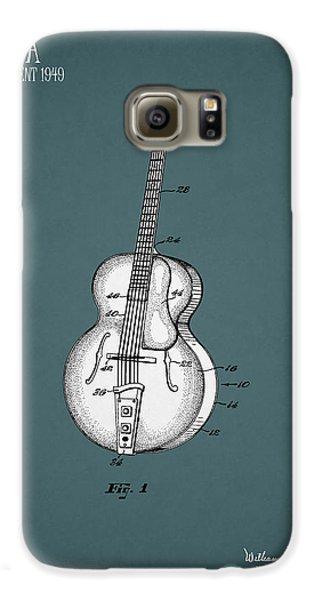 Guitar Galaxy S6 Case - Vega Guitar Patent 1949 by Mark Rogan