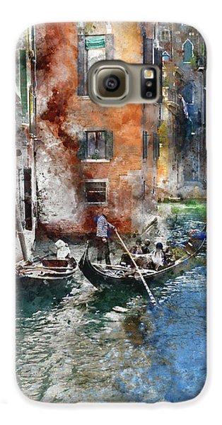 Venetian Gondolier In Venice Italy Galaxy S6 Case