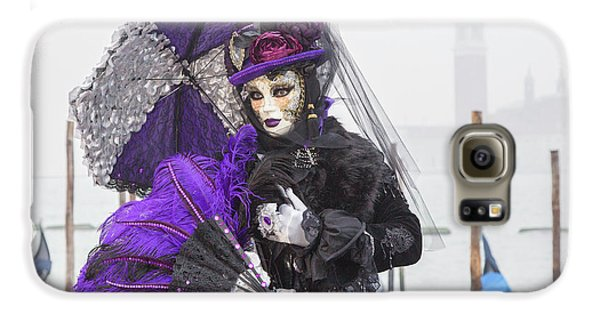 Venetian Lady In Purple Galaxy S6 Case
