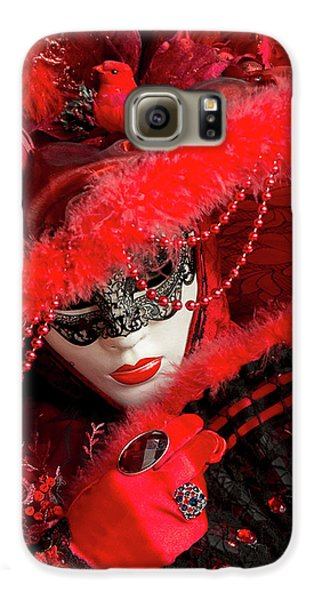 Venetian Lady In Red II  Galaxy S6 Case