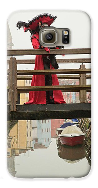 Venetian Lady On Bridge In Burano Galaxy S6 Case