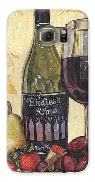 Strawberry Galaxy S6 Case - Veneto Pinot Noir by Debbie DeWitt