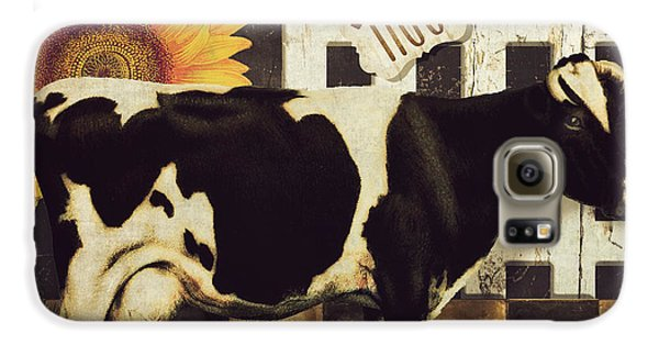 Cow Galaxy S6 Case - Vermont Farms Cow by Mindy Sommers