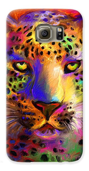 Vibrant Leopard Painting Galaxy S6 Case