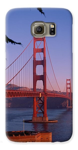 View Of The Golden Gate Bridge Galaxy S6 Case by American School