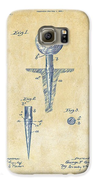 Vintage 1899 Golf Tee Patent Artwork Galaxy S6 Case by Nikki Marie Smith