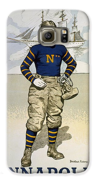 Vintage College Football Annapolis Galaxy S6 Case by Pd