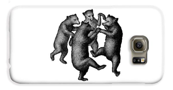 Vintage Dancing Bears Galaxy S6 Case by Edward Fielding