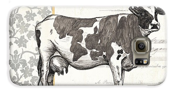 Cow Galaxy S6 Case - Vintage Farm 4 by Debbie DeWitt