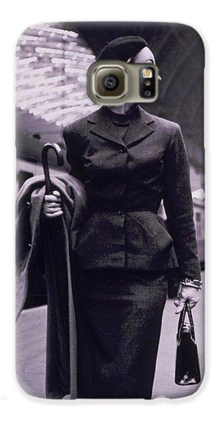 Train Galaxy S6 Case - Vintage Fashion Elegant Lady by Mindy Sommers
