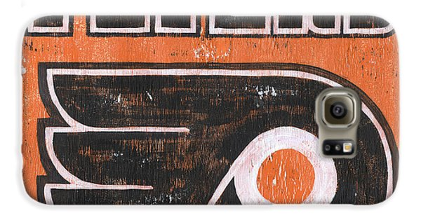 Hockey Galaxy S6 Case - Vintage Flyers Sign by Debbie DeWitt