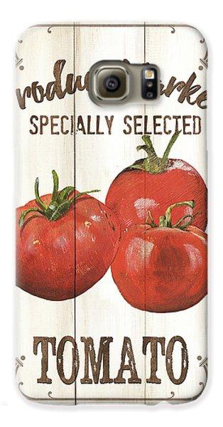 Tomato Galaxy S6 Case - Vintage Fresh Vegetables 4 by Debbie DeWitt