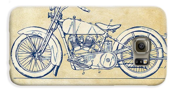 Vintage Harley-davidson Motorcycle 1928 Patent Artwork Galaxy S6 Case by Nikki Smith