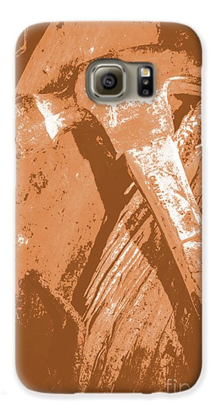 Vintage Miners Hammer Artwork Galaxy S6 Case