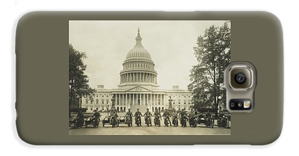 Vintage Motorcycle Police - Washington Dc  Galaxy S6 Case by War Is Hell Store