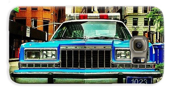 Summer Galaxy S6 Case - Vintage Nypd. #car #nypd #nyc by Luke Kingma