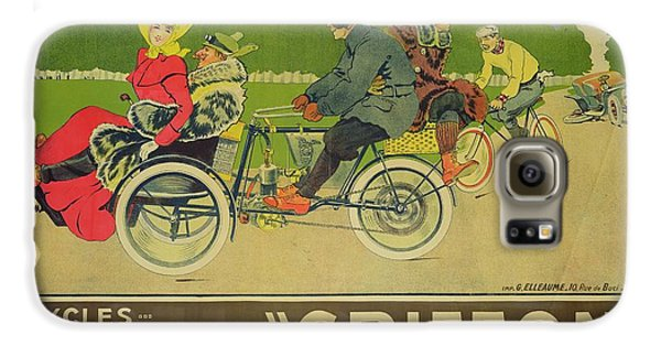 Griffon Galaxy S6 Case - Vintage Poster Bicycle Advertisement by Walter Thor