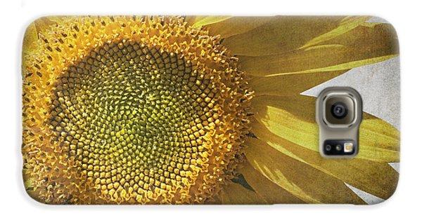 Sunflower Galaxy S6 Case - Vintage Sunflower by Jane Rix