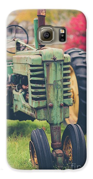 Vintage Tractor Autumn Galaxy S6 Case by Edward Fielding