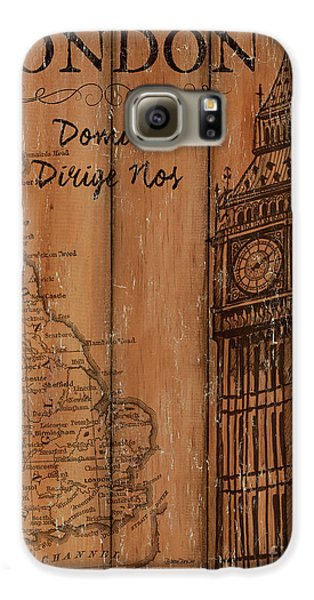 Vintage Travel London Galaxy S6 Case by Debbie DeWitt