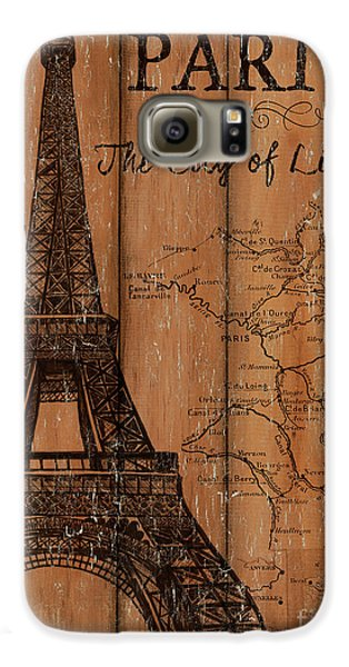 Vintage Travel Paris Galaxy S6 Case by Debbie DeWitt