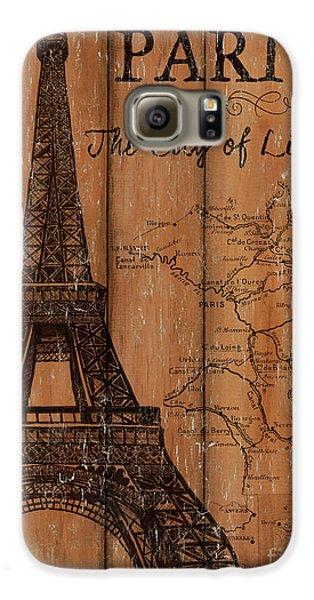Eiffel Tower Galaxy S6 Case - Vintage Travel Paris by Debbie DeWitt