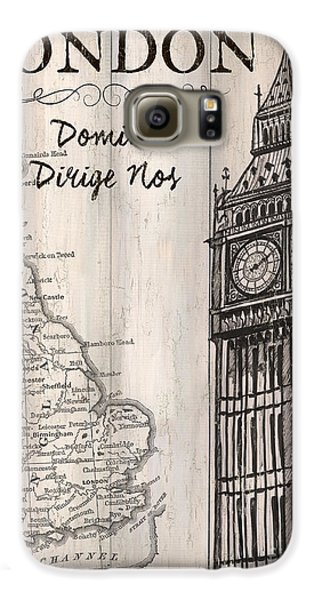 Vintage Travel Poster London Galaxy S6 Case by Debbie DeWitt