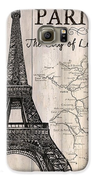 Vintage Travel Poster Paris Galaxy S6 Case by Debbie DeWitt