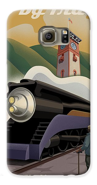 Vintage Union Station Train Poster Galaxy S6 Case by Mitch Frey