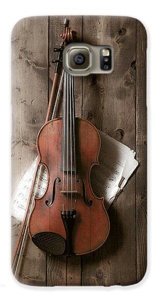 Violin Galaxy S6 Case - Violin by Garry Gay