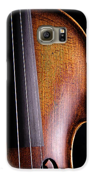 Violin Isolated On Black Galaxy S6 Case by M K  Miller