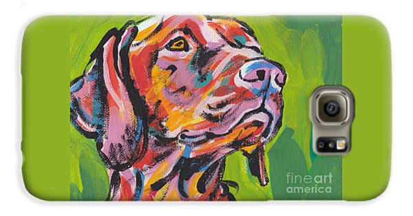 Dog Galaxy S6 Case - Viva La Vizsla by Lea S