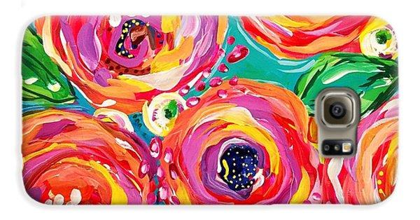 Bright Galaxy S6 Case - Vivid Flora by DAKRI Sinclair